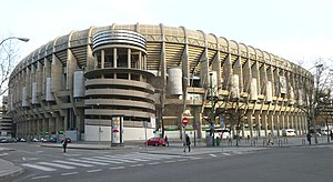 Santiago Bernabéu Stadium - Castellana northwest external view of the stadium