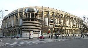 Santiago Bernabéu Stadium - Castellana northwest external view of the stadium