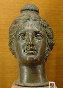 Etruscan perfume vase shaped like a female head