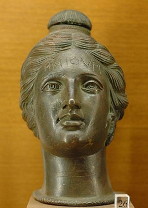 Perfume - Etruscan perfume vase shaped like a female head, 2nd century BC