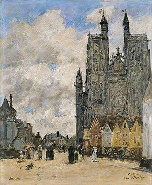 Wulfram of Sens - The Square of the Church of Saint Vulfran in Abbeville, Eugène Boudin, 1884
