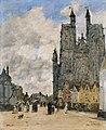 Eugène Boudin - La Place de l'église Saint-Vulfran à Abbeville.jpg