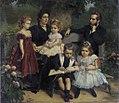 Eugène Siberdt - Group portrait of a family in a garden.jpg