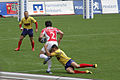 European Sevens 2008, Portugal vs Romania, David Mateus tackle.jpg