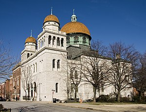 History of the Germans in Baltimore - Eutaw Place Temple in December 2011.