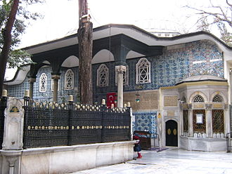 Siege of Constantinople (674–678) - Building that houses the tomb of Abu Ayyub at Eyüp Sultan Mosque complex