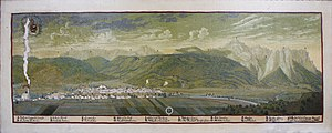 Garmisch-Partenkirchen - Panorama of Garmisch by Valentin Gappnigg (c. 1700)
