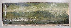 Garmisch-Partenkirchen - Panorama of Garmisch by Valentin Gappnigg (c. 1700)