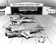 F-104As South Carolina ANG early 1960s