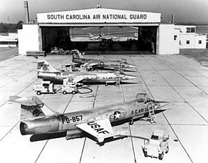 McEntire Joint National Guard Base - F-104As on the ramp at McEntire