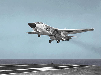 General Dynamics–Grumman F-111B - Image: F 111B CVA 43 approach July 1968