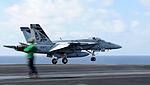 F-A-18E Super Hornet launches from USS Dwight D. Eisenhower 121125-N-GC639-023.jpg