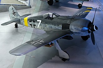 "Balkenkreuz - The Smithsonian's faithfully-restored Fw 190F, showing both forms of Balkenkreuz in ""low-visibility"" (flanks-only) form"