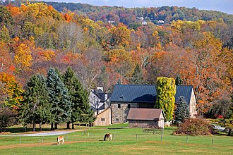 Upper Uwchlan Township, Chester County, Pennsylvania - Fall colors in Upper Uwchlan Township, Pennsylvania