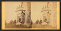 Family posing in front and in the balcony of stone house, from Robert N. Dennis collection of stereoscopic views 2.png
