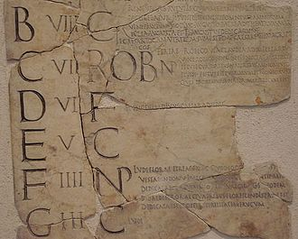 Nundinae - A section of the remains of the Fasti Antiates