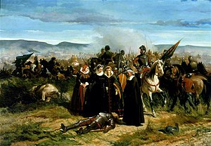 Giovanni Fattori - Mary Stuart at the Camp of Crookstone, 1859–61, oil on canvas, 76 x 108 cm, Palazzo Pitti, Florence