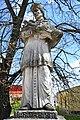Fehérgyarmat, templomkerti Nepomuki Szent János-szobor 2021 07.jpg