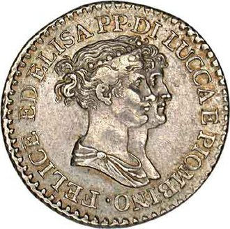 Felice Pasquale Baciocchi - Coin with Elisa and Felice's busts
