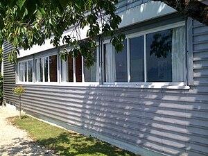 Corseaux - Windows in the Villa Le Lac
