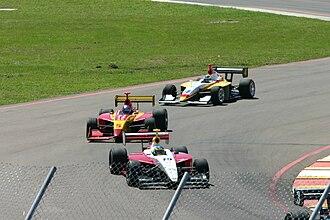2005 Infiniti Pro Series season - Chris Festa, Arie Luyendyk Jr., and Marty Roth