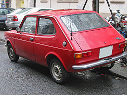 Fastback. Fiat 127 first series.
