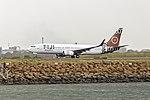 Fiji Airways (DQ-FJM) Boeing 737-86J(WL) departing Sydney Airport.jpg