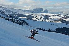 Fill in gara sulla Saslong della Val Gardena il 21 dicembre 2013