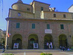 A building on the main square, the Piazza Mazzini