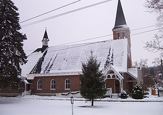 First Baptist Church of Camillus - Image: First Baptist Church Of Camillus southside 2007 12 14