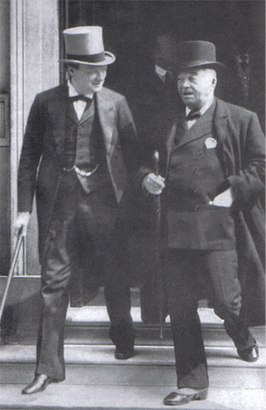 de oude Fisher met de jonge Churchill in December 1914