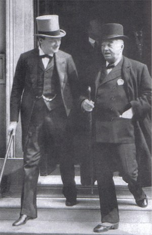 Edward Spears - When Winston Churchill (seen here with Admiral 'Jackie' Fisher) lost his post as First Lord of the Admiralty after the failure of the Gallipoli campaign, he served on the western front. Spears escorted him during his first visit and they became friends – a relationship that would see Spears appointed WSC's special representative to de Gaulle and the Free French in the Second World War.