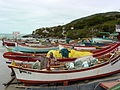 Fishermen and Boats at Armacao - Santa Catarina Island - Brazil.jpg