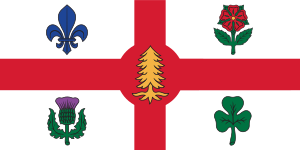 Flag of the City of Montreal Français : Drapea...
