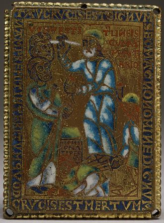 "Gog and Magog - Image: Flemish Ezekiel's Vision of the Sign ""Tau"" (Ezekiel IX 2 7) Walters 44616 (cropped)"
