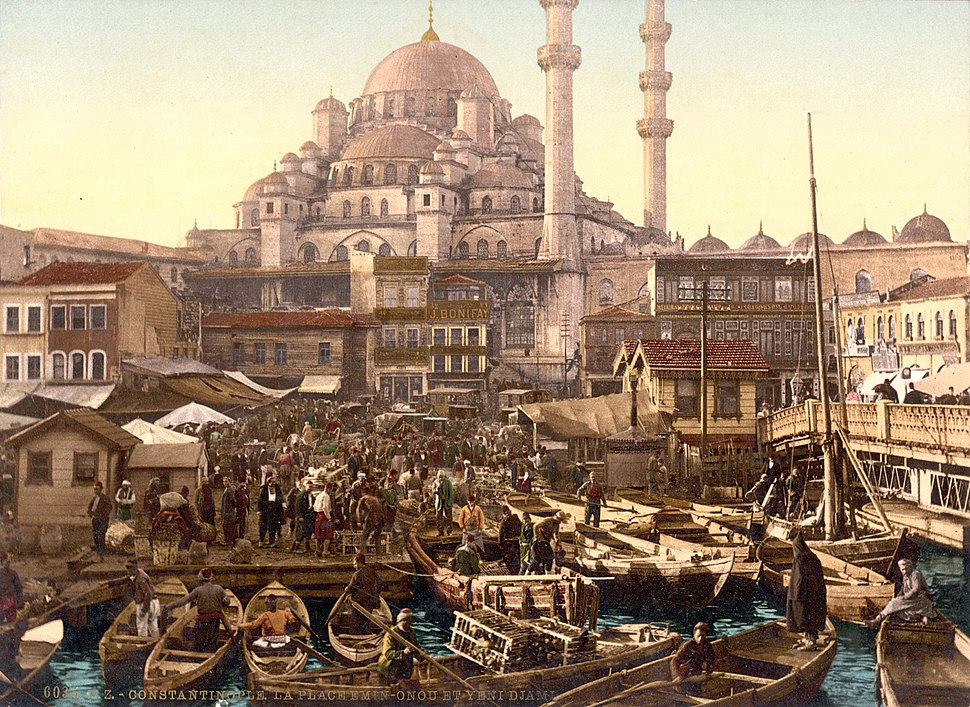 Flickr - …trialsanderrors - Yeni Cami and Eminönü bazaar, Constantinople, Turkey, ca. 1895