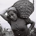 Flickr - Government Press Office (GPO) - A member of kibbutz Ein-Gev carrying a basket with gravel.jpg