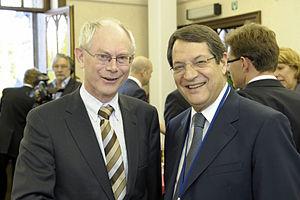 Herman Van Rompuy - Herman Van Rompuy with Nicos Anastasiades