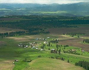Human settlement - The small town of Flora, Oregon in the United States is unincorporated, but is considered a populated place