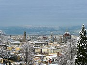 Florence with snow cover in December 2009