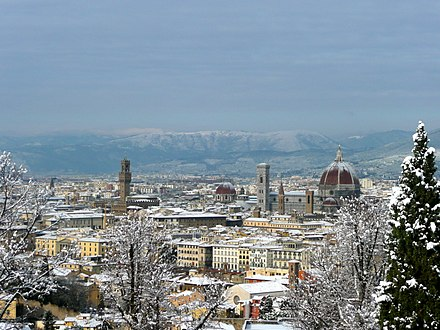 Florence with snow cover in December 2009 Florence with snow cover in December 2009.jpg
