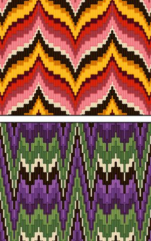 Mathematics and fiber arts - Two Bargello patterns