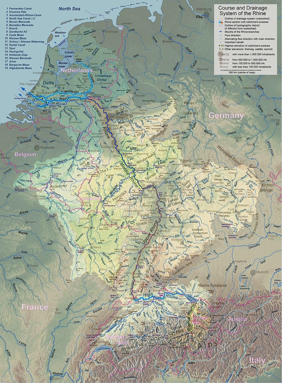 Flusssystemkarte Rhein 04