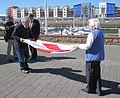 Folding the Jersey flag 2011 6.jpg