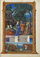 Folio 57r - The Flight into Egypt