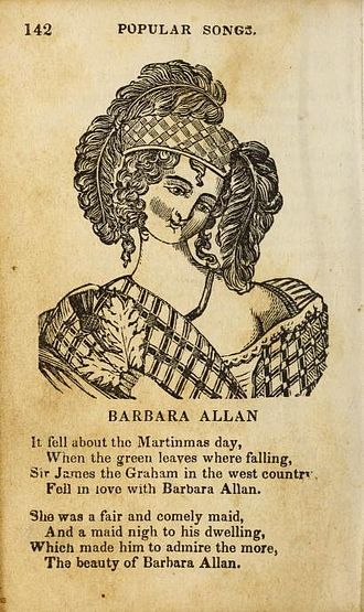 Barbara Allen (song) - Image: Forget Me Not Songster Barbara Allen p.1