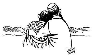 """""""Forgiveness 7"""" by Carlos Latuff."""
