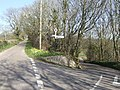 Fork in the road near Churchill, Devon - geograph.org.uk - 427211.jpg