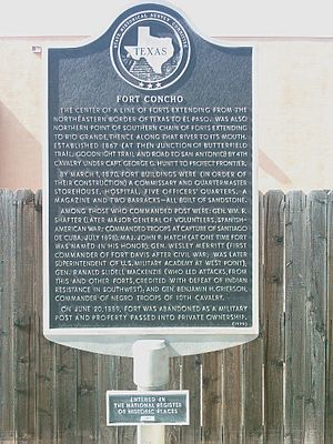 Fort Concho - A plaque at Fort Concho describing its history