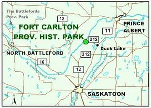 Fort Carlton - Location of Fort Carlton